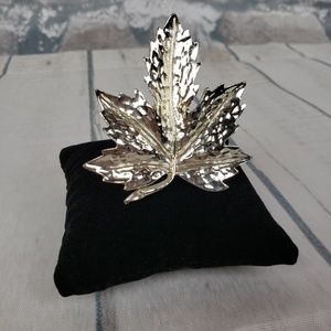 "Vtg Coro Signed Maple Leaf Brooch / Pin 2"" Across"